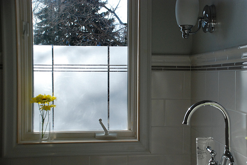 Bathroom Privacy Window creating privacy in the bathroom with window film | daystar